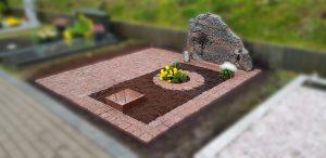 Kapavietės dengimas granito trinkelėmis